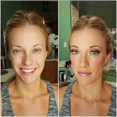 Client Before & After pictures, Makeup & Hair